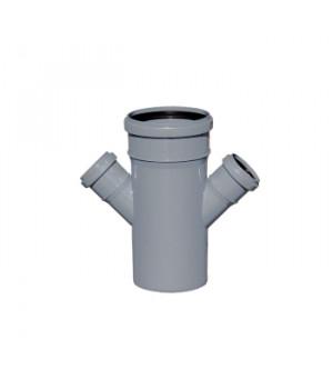 Крестовина 110х50х50 мм 45град. канализационная