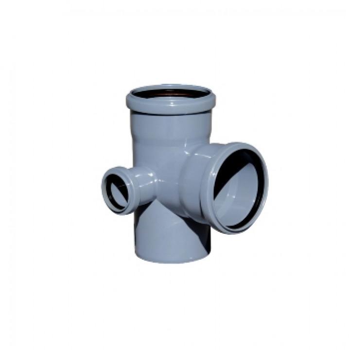 Крестовина 110х110х50 мм 90град. левая двухплоскостная канализационная