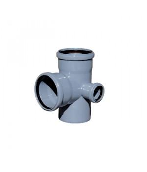 Крестовина 110х110х50 мм 90град. правая двухплоскостная канализационная