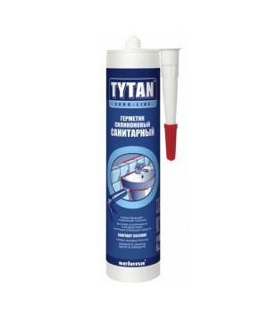 Герметик силиконовый бесцветный 290 мл Санитарный Euro-Line TYTAN
