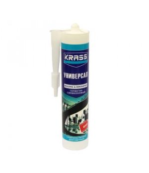 Герметик силиконовый белый Универсальный 300 мл Krass