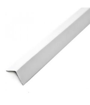 Профиль алюминиевый угловой 19х24х3000мм белый Албес