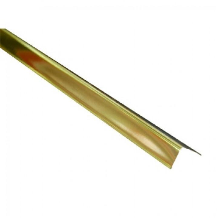 Профиль алюминиевый угловой 19х24х3000мм золото Албес