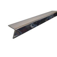 Профиль алюминиевый угловой PL 19х24х3000мм супер хром LUX Албес