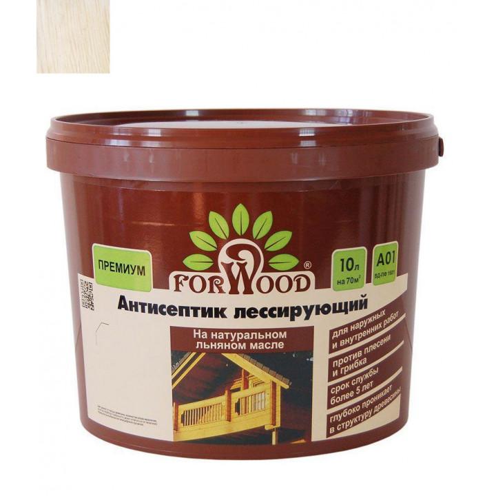 Антисептик для дерева Forwood белый 10 кг на льняном масле