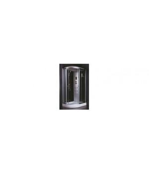 Кабина душевая 120х80х218 см Z58R стекло прозрачное, черная стенка VERNER
