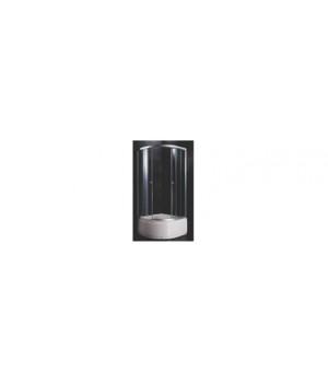 Душевой уголок VERNER ТL13 90х90х202 см, белый высокий подон, стекло крезит