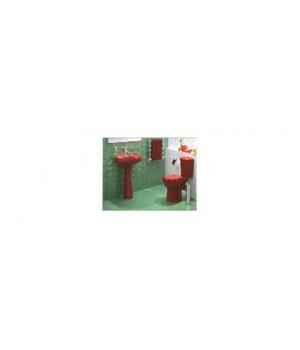 """Унитаз-компакт """"Дора"""" (крепление + сиденье + арматура) красный стандарт"""