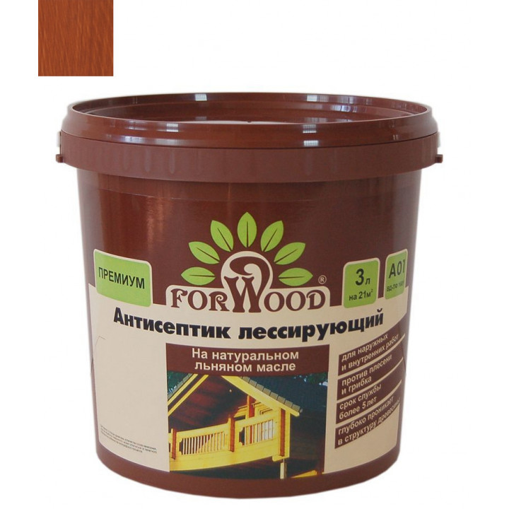Антисептик для дерева Forwood вишня 3 кг на льняном масле