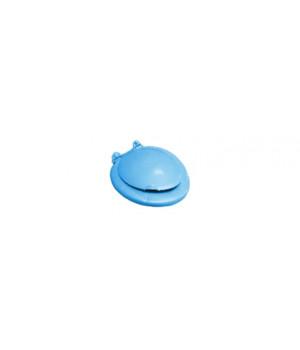 "Сиденье для унитаза 445х385х35 мм цвет ""голубой мрамор"""