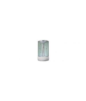 Кабина душевая 100х100х215 см Y02 поддон высокий, стекло прозрачное, без электрики VERNER