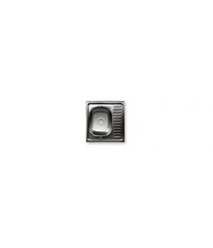 "Мойка нержавеющая накладная 600х500х150 мм 0,5 мм без сифона, выпуск 1 1/2"""