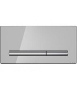 Кнопка PILOT стекло, цвет серый глянцевый, для инсталляций, универсальная Cersanit
