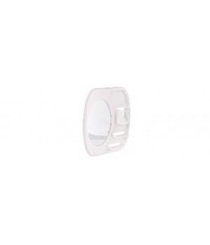 Зеркало настенное для ванной Альтернатива, в пластмассовой раме с полками и держателями 390х445 мм, белый цвет М7731
