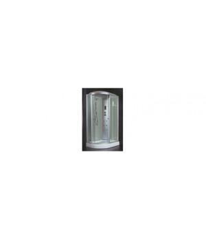 Кабина душевая 120х80х218 см Z58R стекло прозрачное, белая стенка VERNER