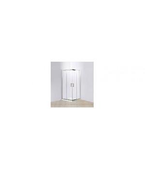 """Душевой уголок """"DOMANI-Spa"""" Fit99 high 90х90х195 см высокий поддон белый, матовое стекло"""