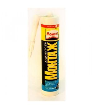 Жидкий гвоздь Момент белый 400 гр Монтаж Экспресс Декор МВ-45