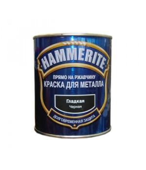 Краска Hammerite черная 0,75 л гладкая глянцевая