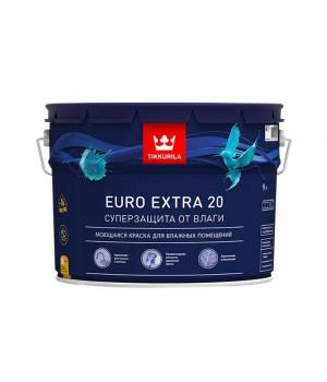 Краска Тиккурила Евро Экстра 20 для кухонь и ванн моющаяся база А 9 л латексная