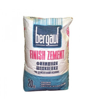 Шпатлевка Finish Zement 20 кг Bergauf финишная