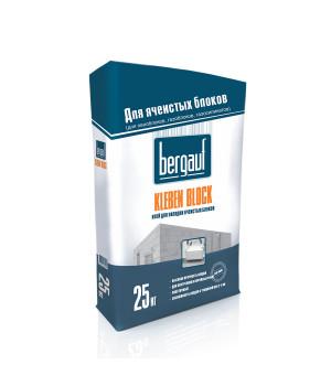 Клей Kleben Block 25 кг Bergauf морозостойкая для блоков из ячеистого бетона