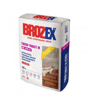 Штукатурка гипсовая Brozex Гипер-пласт М GPM 53 30 кг, для машинного нанесения