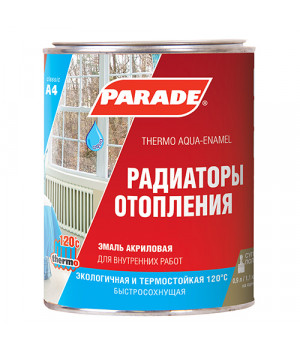 Эмаль акриловая PARADE CLASSIC А4 белая 0,9 л для радиаторов полуматовая