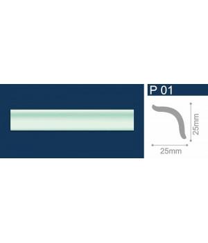 Плинтус полистирол Р01 Шелк зеленый 1м СОЛИД