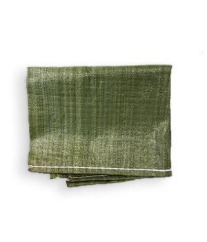 """Мешок для строительного мусора полипропиленовый тканый 55 см х 105 см до 50 кг зеленый """"888"""""""
