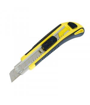"Нож резино-пластиковый корпус автомат (5 лезвий) винт для фиксации 18 мм ""888"""