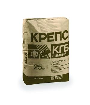 Кладочная смесь Крепс КГБ зимняя 25 кг для блоков из ячеистого бетона