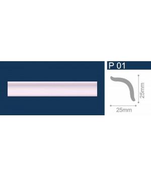 Плинтус полистирол Р01 Шелк малиновый 1м СОЛИД