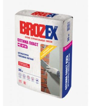 Штукатурка гипсовая Brozex Оптима Пласт GP50 30 кг, для внутренних работ