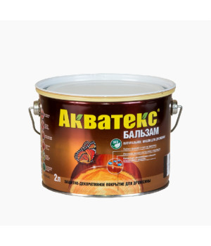 Масло для древесины натуральное Акватекс Бальзам бесцветный 2 л