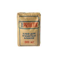 Кладочная смесь Praktik 30 кг морозостойкая для блоков из ячеистого бетона Bergauf