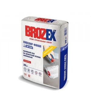 Ровнитель для пола BROZEX NF-420 Нивелир Финал 20 кг для внутренних работ