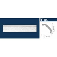 Плинтус полистирол Р04 белый 1м СОЛИД
