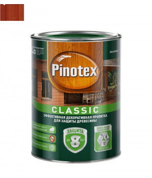 Пропитка для дерева защитная Pinotex Classic красное дерево 1 л