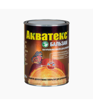 Масло для древесины натуральное Акватекс Бальзам бесцветный 0,75 л