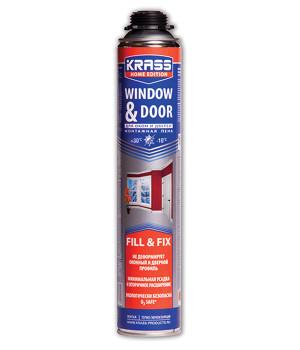 Пена монтажная профессиональная KRASS для окон и дверей всесезонная 750 мл