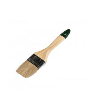 """Кисть плоская ЕвроМикс 1"""" 25 мм смешанная щетина, лакированная ручка """"888"""""""