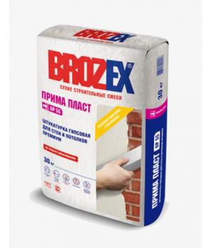 Штукатурка гипсовая Brozex Прима Пласт GP55 30 кг для внутренних работ