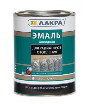 Эмаль алкидная Лакра белая 0,9 кг для радиаторов полуматовая