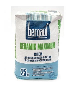 Клей для плитки Keramik Maximum Plus 25 кг Bergauf