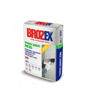 Шпаклевка цементная Brozex WR 75 Финиш Цемент 20 кг финишная белая