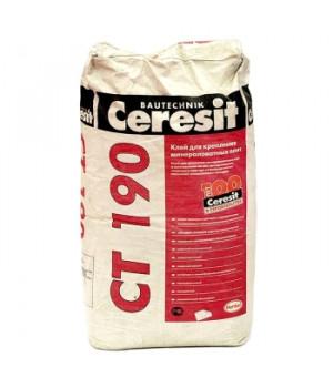 Штукатурно-клеевая смесь CT190 25 кг для минваты Ceresit