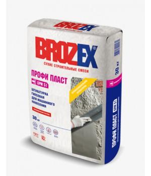 Штукатурка гипсовая Brozex Профи Пласт GPM 51 30 кг