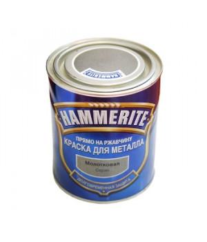 Краска Hammerite серая 0,75 л молотковый эффект