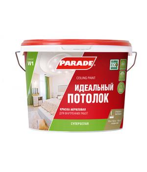 Краска Parade W1 для потолка белая матовая 2,5 л интерьерная