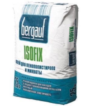 Штукатурно-клеевая смесь Isofix 25 кг Bergauf для пенополистирола и минваты
